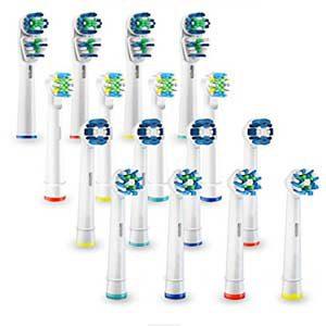Oralteck - 16 Cabezales compatibles con Cepillos Eléctricos Oral-B